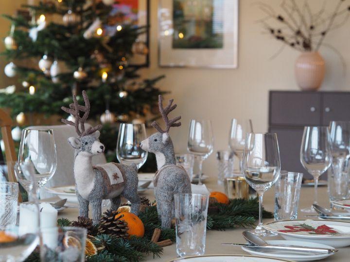 Borddekorasjon til jul, table decoration for Christmas