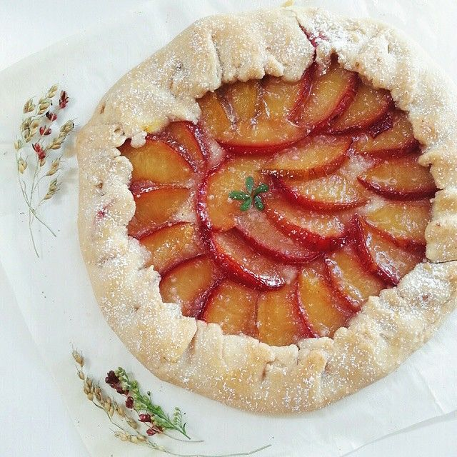 Rustic Almond & Plum Galette Pie