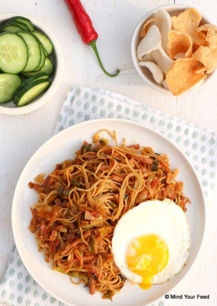 Indonesian bami goreng/ Indonesische bami goreng
