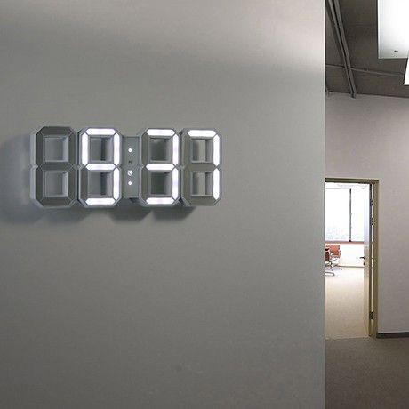 LED-Wanduhr - Weiß von KIBARDINDESIGN | MONOQI