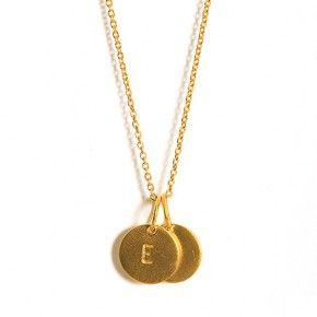 Love Tag-halskæde med to Love Tags i 18 karat forgyldt sølv