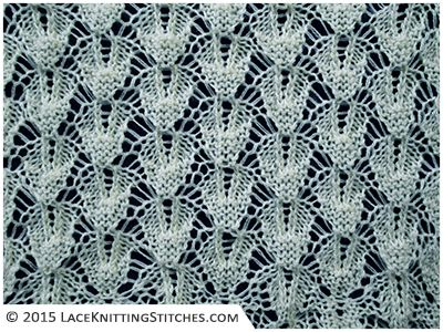 Diamond Lace Knitting Stitches : The 176 best images about Lace Knitting Stitches on Pinterest Lace knitting...