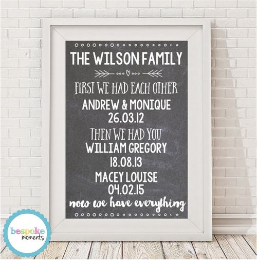First We Had Each Other Family Print by Bespoke Moments. Worldwide Shipping Available.