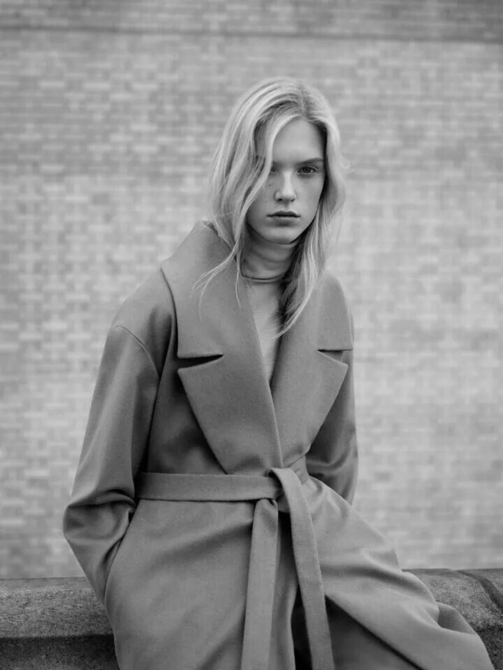 COS|Wide lapel wool coat