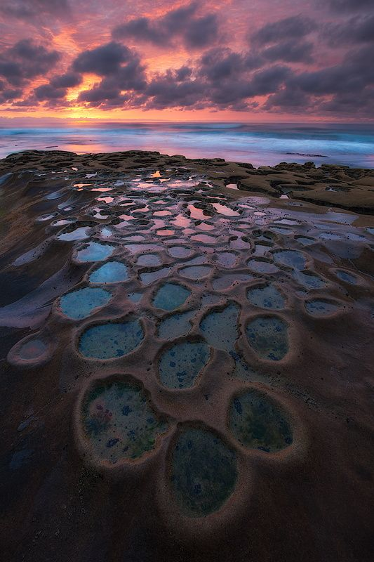 Sunset in Hospitals Reef, La Jolla, San Diego, California, United States