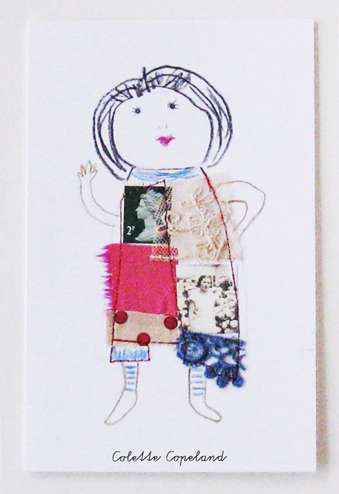 line drawn person with embellishments