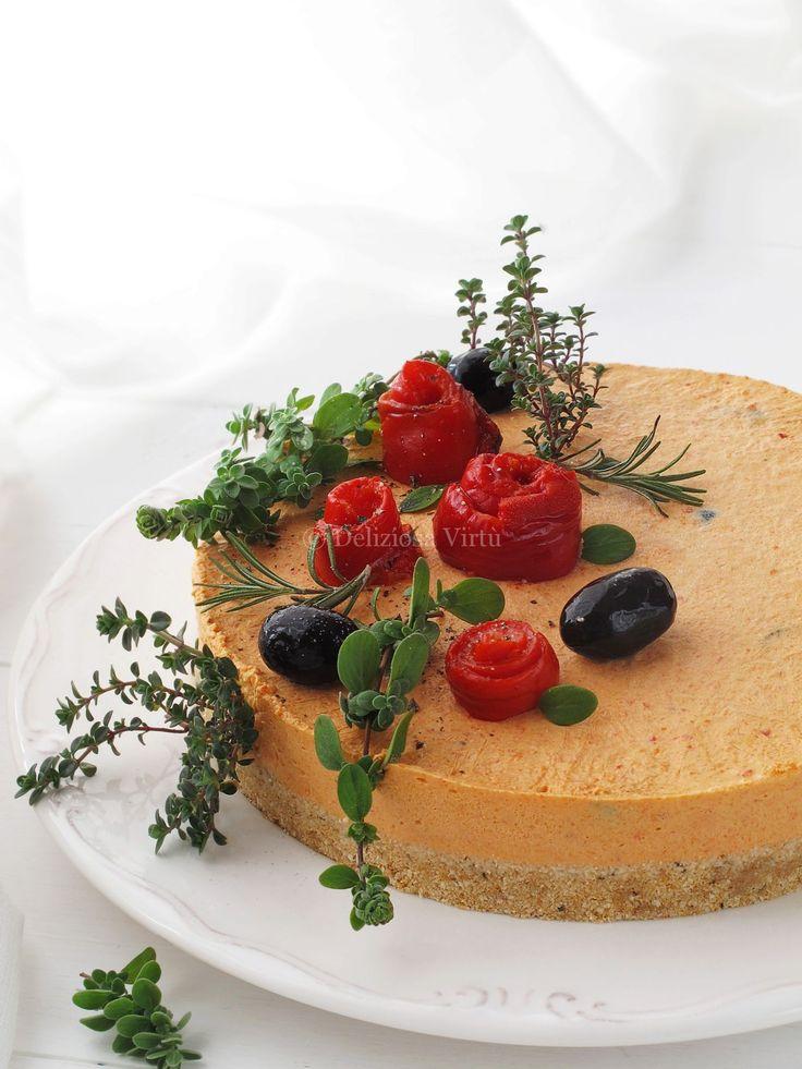 Cheesecake ai peperoni e olive