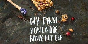 My first, homemade honey-nut bar