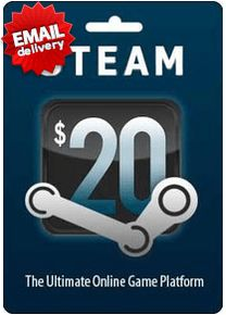 Buy Steam gift card online just $20 and get it just a few minutes via Email. This way is too fast to get.