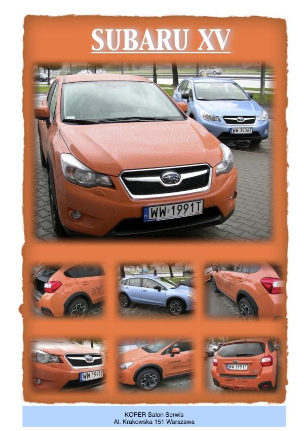 Subaru XV - Warsaw 2012 - KOPER Salon