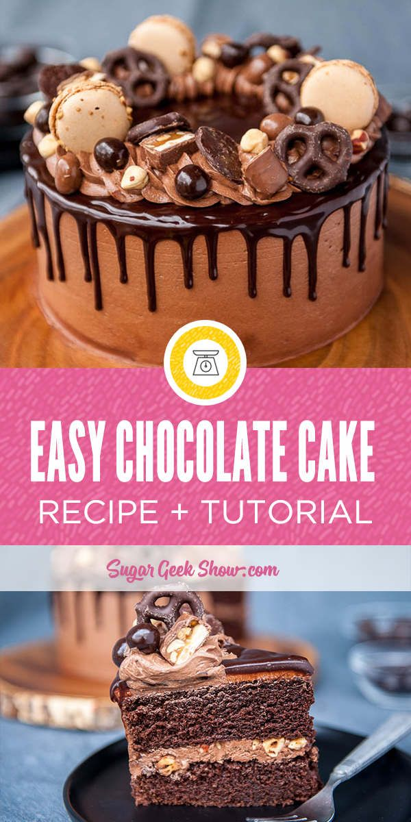Easy Chocolate Cake Recipe Drip Cake Recipes Easy Moist