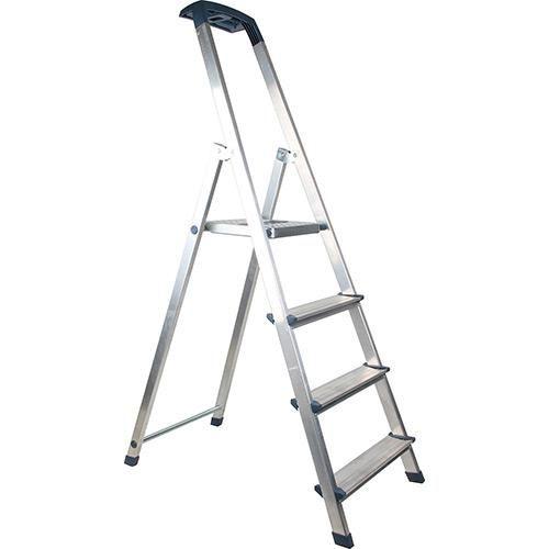 Escada de Alumínio 4 Degraus - Afer - Shoptime.com