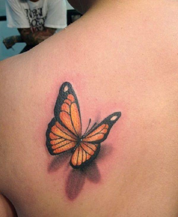 3D butterfly tattoo 5 - 65 3D butterfly tattoos <3