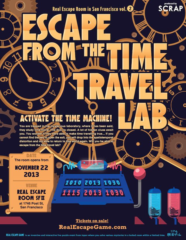 Escape from the Time Travel Lab – Real Escape Room SF vol.2 | Real Escape Game in the U.S | SCRAP Entertainment Inc.