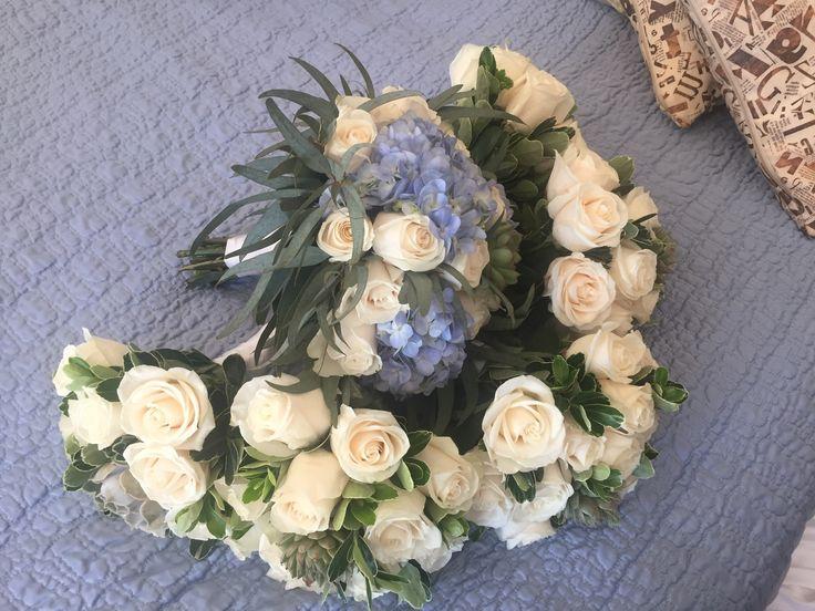Suculentas Bouquet Eucalipto bouquet Blue hydrangeas