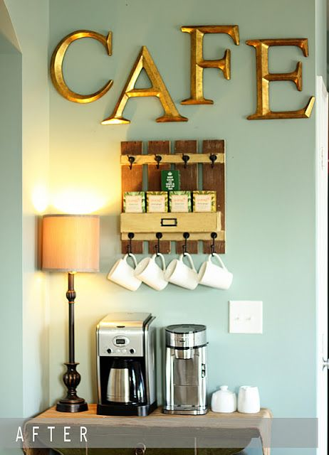 different letters but I l LOVE the mini pallet looking mug hooks