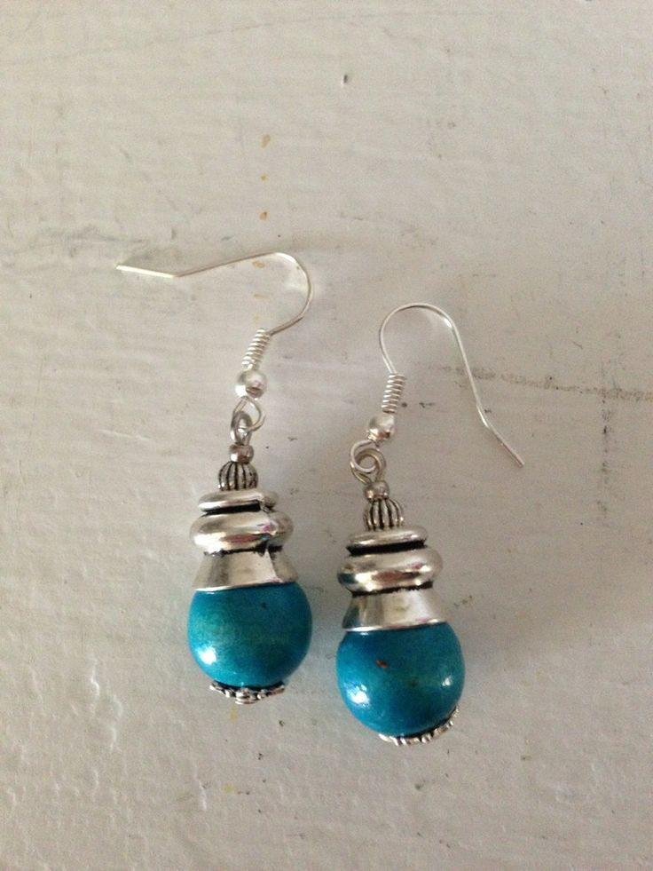 Handmade in Morocco in an ethically and environmentally friendly manner. Turquoise Bloom series earrings! oneearthbydanielle@gmail.com - Free shipping! Get these for $22.95 + tax Canadian