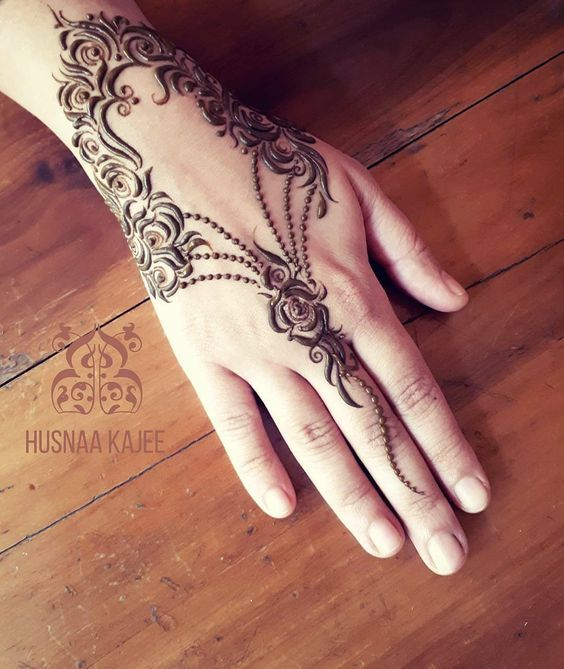 Eid Mehndi Designs for Girls 2018
