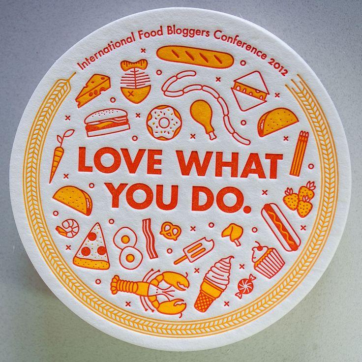 International Food Bloggers Conference Letterpress Coaster via The Beauty of Letterpress