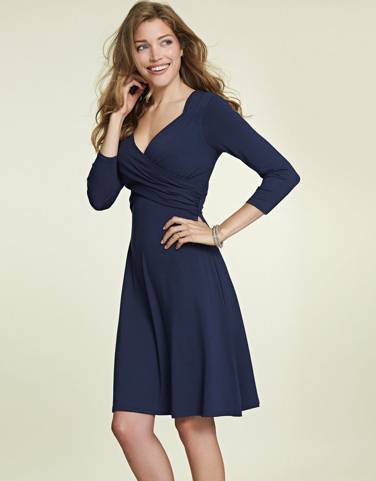 Florence Dress in Navy by Pepperberry