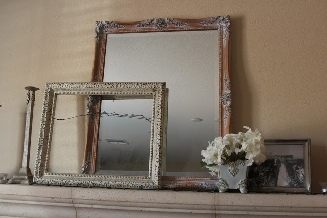 Mirror and frames thrifted by @Abigail Helmers Blog from Color Blind Thrifters Anonymous