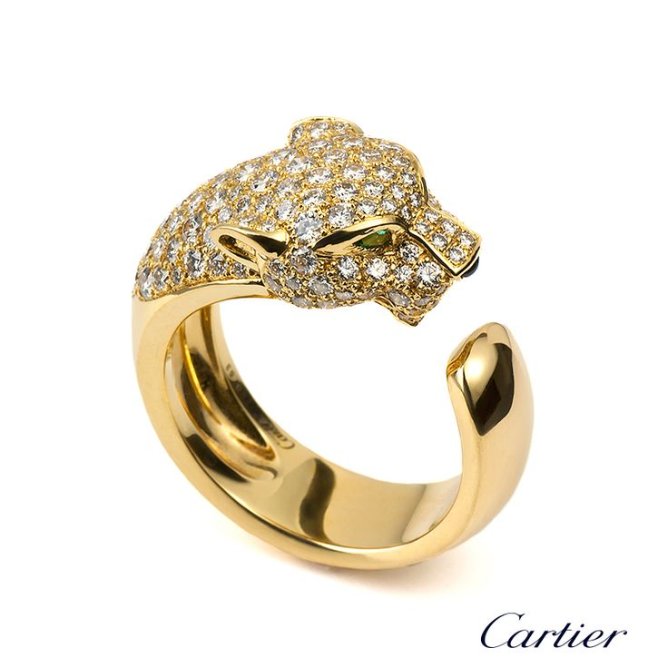 cartier+diamond+rings | 18YG Cartier PANTHÈRE RING N4225000