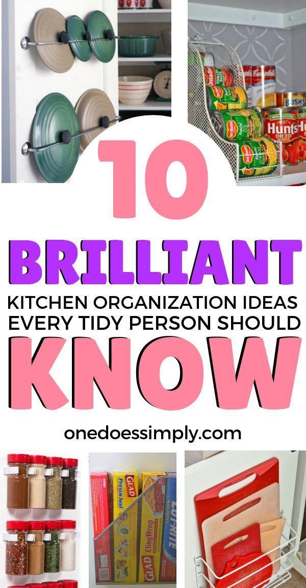 10 Sanity-Saving Hacks To Organize Your Kitchen