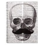 Vintage Skull with Mustache Print on Dictionary Notebook #halloween #happyhalloween #halloweenparty #halloweenmakeup #halloweencostume