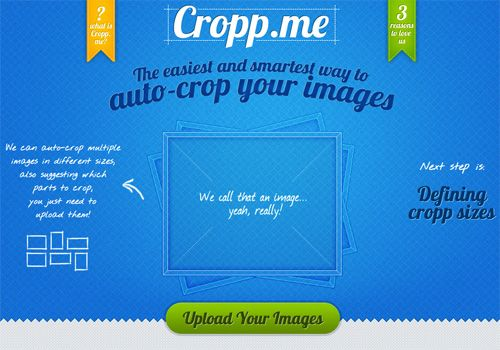 Auto-Cropping Images To Any Sizes Online With Cropp.Me