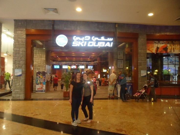 De ingang van Ski Dubai gevestigd in The Mall of the Emirates #NHTV #3MTT