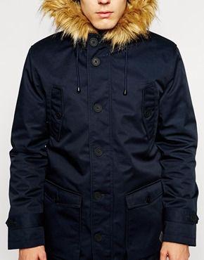 Minimum Coat with Faux Fur Trim