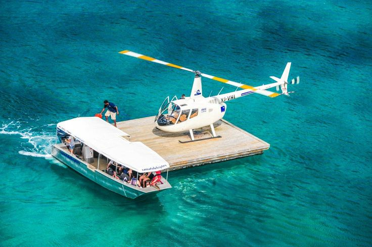 floating heli-pad in Port Vila Vanuatu