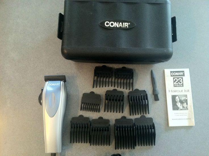 Conair Hair Clippers HC220D Electric Hair Cutter Trimmer W/ 9 Attachments & Case #Conair ...