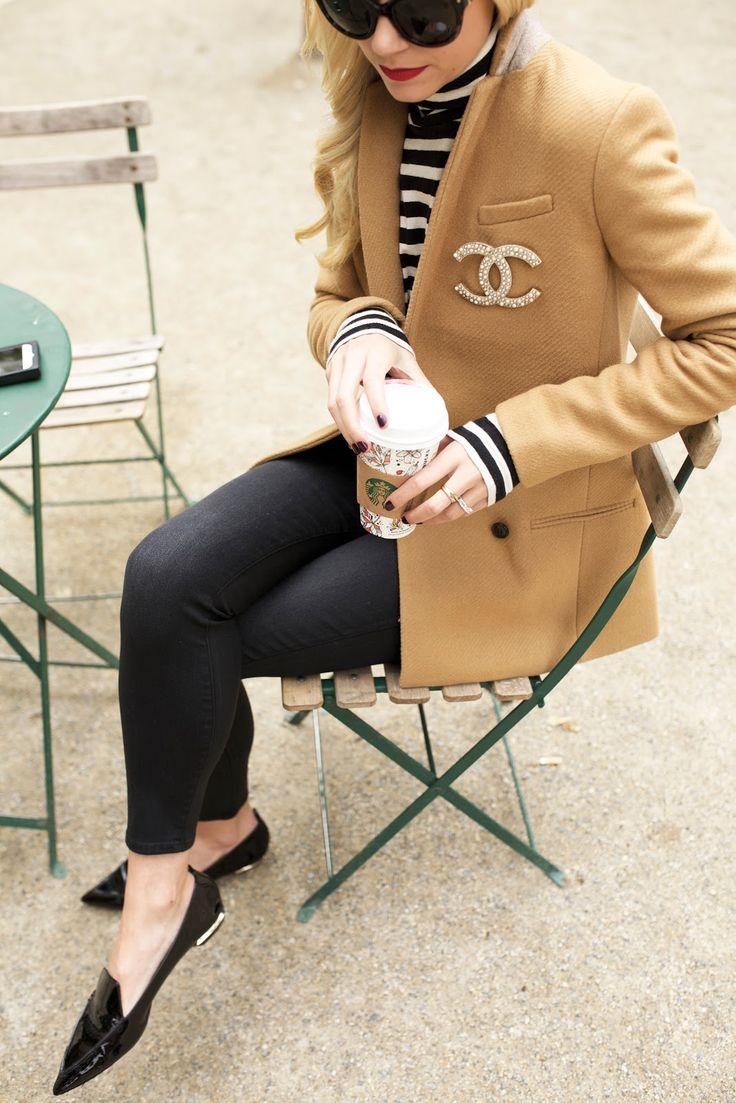 Blazer, loafers, skinny jeans and Breton stripes