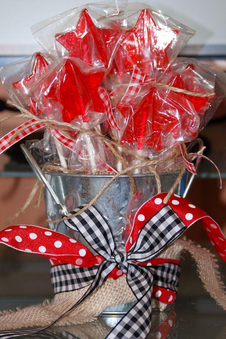 cowboy western theme star lollipop display