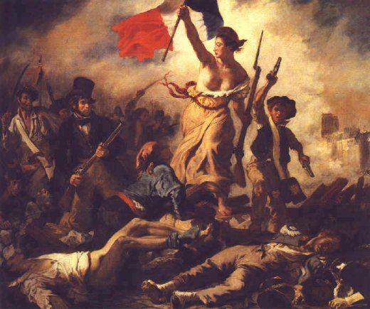 """Eugène DELACROIX  """"La liberté guidant le peuple"""" (1830)  Huile surt toile 260 x 325 cm"""