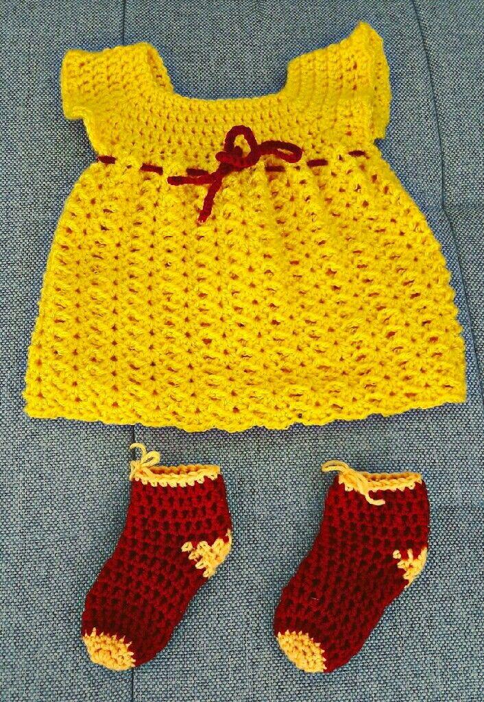Ready for the Baby Shower 😍 #Soay #handmade #crochet #babydress
