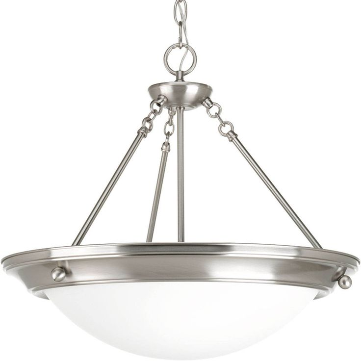 progress lighting eclipse 27375in 4light brushed nickel shaded chandelier p732309wb
