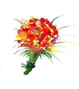 鮮やかで素敵な花束イラストアイデア