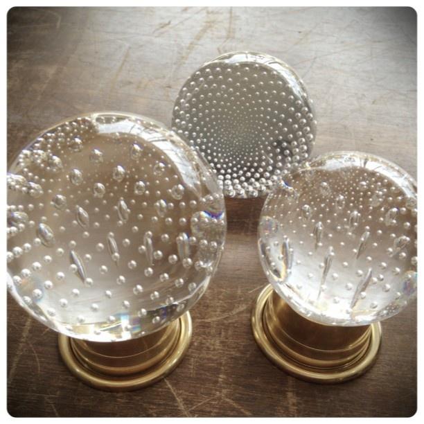 Custom hardware by Micah @ Wilmette Hardware -bubble glass knob