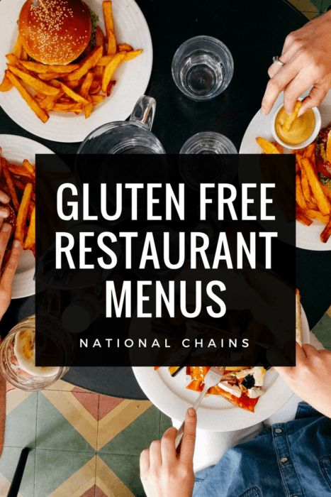 240+ Gluten Free Restaurant Menus You Must Check Out in 2019