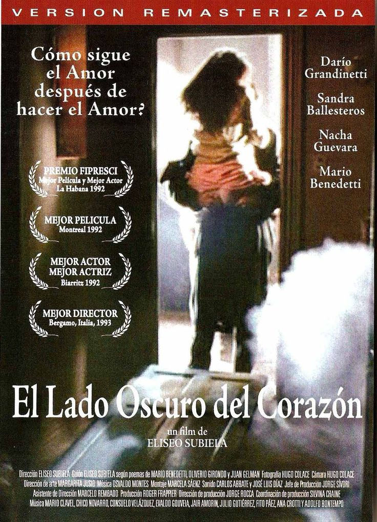 El lado oscuro del corazón   Director: Eliseo Subiela   Año de realización: 1992   Producción: Argentina-Canadá