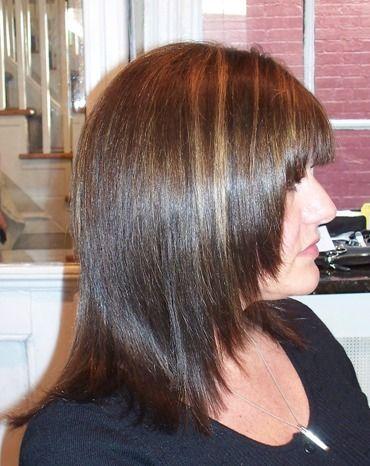 Brown Hair Grey Highlights Medium Brown Hair With