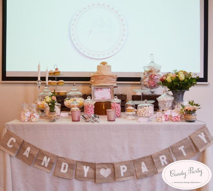 Sweet table mariage champetre chic by boda de campo pin - Mariage champetre chic ...