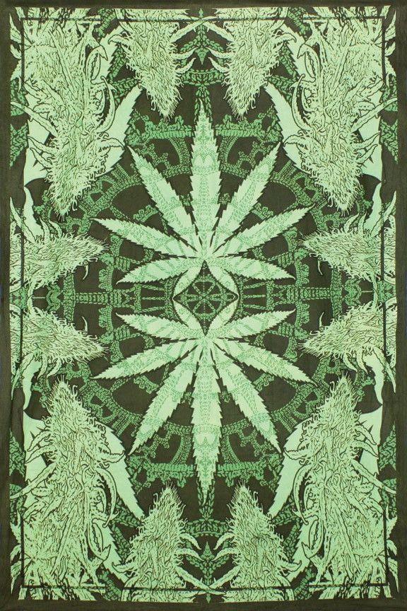 Leaf tapestry in 2 shades of green. Great design-great color. Can hang either way. 60 X 90. 100% cotton. Made in India.