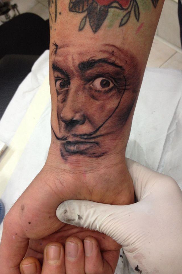 Tatuaggio salvador dali portrait tattoo