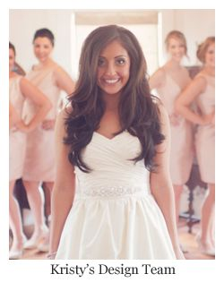Classic long all down full bridal hairstyle.~ Hair by Kristy's Design Team - A Hair Comes the Bride affiliate stylist.