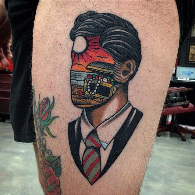 Dream of Treasure Face by Wa Ink Tattoo