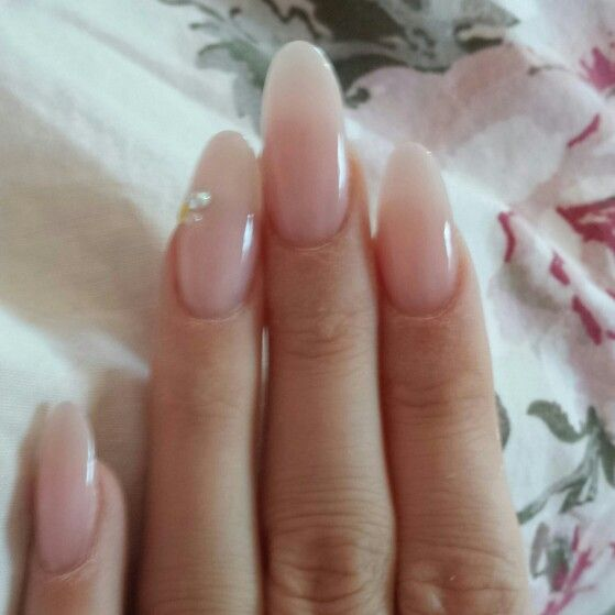 Beautiful natural square nails