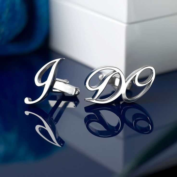 Unique, stylish chunky silver 'I Do' cufflinks - A perfect gift for any groom on his wedding day! Please visit our website for further details: http://www.alittlesomethingdifferentweddinggifts.co.uk/unique-wedding-jewellery